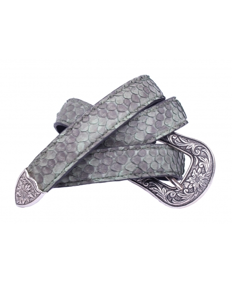 The Little Python Belt with an openwork buckle